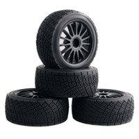 Wholesale Hpi Flux - RC HPI 107870 Black Rim Tires&Wheel 4PCS sets For Electric WR8 Flux