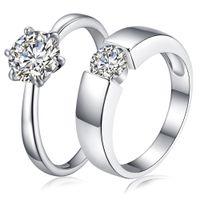 4,5 paar ringe großhandel-2017 Luxus CZ Hochzeit Ringe 925 sterling silber braut Zirkonia diamant paar ringe Für menwens s verlobung Modeschmuck