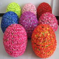 Wholesale Shop Props - 60CM Wedding Shooting Props Kissing Balls Artificial Flower Ball Ornament Shopping malls opened Decoration Free Shipping