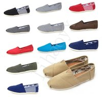 Wholesale Men Canvas Shoe Wholesale - Hot brand Casual Canvas Shoes Summer Breathable Canvas Men and Women Shoes Concise Casual Flat Men Shoes C005