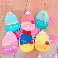 "Wholesale Cinderella Snow New Cartoon - EMS New 6 Styles 5"" 13CM Plush Bag Aladdin Lamp Aurora Belle Cinderella Jasmine Snow White Coin Bags Purses Pendants Best Gifts Toys"