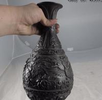 ingrosso cinese fiori pentola-China Chinese Palace Royal Old Pure Copper Bronzo Lucky Flower Phoenix Bird Pot Vaso