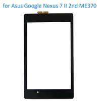 Wholesale Asus Nexus Replacement Glass - Wholesale- ALANGDUO for Asus Google Nexus 7 II 2nd ME370 Tab 2 2013 Touch Screen Digitizer Panel Front Replacement Touchscreen Glass Tablet