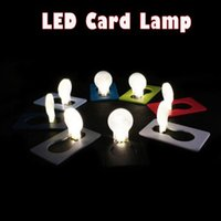 Portátil Pocket LED Card Light Lamp Colocação em bolsa Carteira LED Night Light Lâmpadas Lâmpadas Camping Hiking Outdoor DIY LOGO