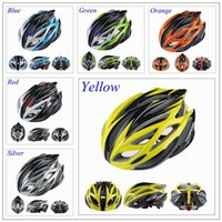 Wholesale Helmets Parts - Super Light 220g 21 Holes Road Bike Cycling Helmets Men's Bike Parts Yellow Green Blue Orange Red Silver Yellow Livestrong Bike Helmet
