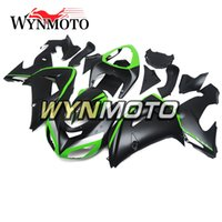 Wholesale Plastic Injection Cover - Black Green Complete Fairings for Kawasaki ZX-10R ZX10R 2006 2007 06 07 Injection Plastics Motorcycle Fairing Kit ABS Covers Bodywork