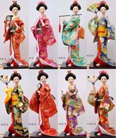 Wholesale Crafts Dolls Supplies - Japan Home Furnishing Japanese Geisha ladies Japanese humanoid doll decoration Craft Hotel supplies 14 inch 38cm high