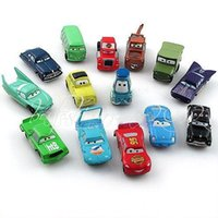 Wholesale Pixar Cars Toys Sets - New a set of 14 pixar cars PVC figures Lightning McQueen Mater Sally Ramone guido doll model children toy kid gift