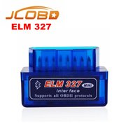 Großhandel-OBD V2.1 ELM327 OBD2 Bluetooth Auto Scanner OBDII 2 Auto ELM 327 Tester Diagnose-Tool für Android Windows ISO # HA10429