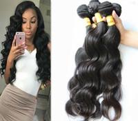 Wholesale lummy resale online - LUMMY Brazilian Body Wave Virgin Human Hair Weave Bundles Peruvian Malaysian Indian Hair Extensions Double Weft Natural Color