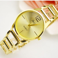 Wholesale Gift Jewelry Boxes Metal - 2017 A piece lots Top brand Metal Luxurywomen aaa watch special steel Lady Wristwatch free box student clock fashion design with gift box