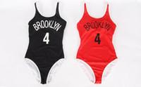 Wholesale California Swimwear - Fashion Women Printing bikini swimwear One Piece Swimsuit Black Red Plus Size California Women Bathing Suit
