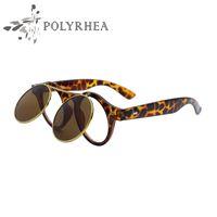 Wholesale Frames Using - Polarized Sunglasses Men Women Sunglasses Retro Double-Use Sunglasses Meters Nails Decorative Glasses Shades Driving Sun Glasses With Box