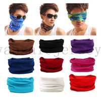 Wholesale Biker Bandanas - Novelty Bicycle Biker Bandana Scarf Seamless Bandanas Headwear Sport Scarf Magic Headband Neck Tube Ring Shawl Wrap