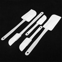 Wholesale Butter Cookies - Wholesale- Silicone Spatula Cake Scraper Cream Butter Spatulas Bakeware Fondant Cookie Cutter Baking Cake Decorating Tools Kitchen 1Set