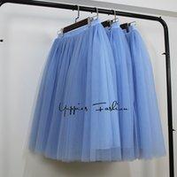 Wholesale Multi Layer Petticoat - 5 Layers 65cm Maxi Long Tulle Skirts Womens Fashion TUTU Skirt Elegant Wedding Bridal Bridesmaid Skirt Lolita Petticoat faldas