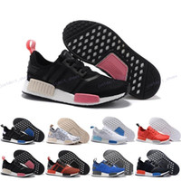 Wholesale Dark Red Table Runners - With Box Originals NMD Runner PK Running Shoes Men Women Boost 2016 New Cheap Primeknit Sneakers Dark Grey Free Drop Shipping