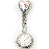 Wholesale Stainless Steel Watches Personalized - 2016 Personalized Nurse Pocket Watch Movement Professional Alloy Nurse Watch Cute Cat Doctor ChildrenGirl Boy Watches