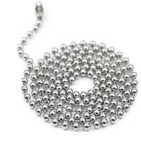esferas de metal venda por atacado-100 pçs / lote 60 cm / 24 polegadas de Metal Liga Bead Ball Chains para pingentes Tag Dog com superfície do espelho