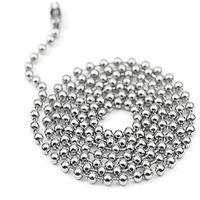 metallkugelkettenketten großhandel-100 teile / los 60 cm / 24 zoll Metalllegierung Perle Ball Ketten für Dog Tag anhänger mit spiegel