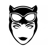 ingrosso adesivi dell'eroe-Cartoon Film Heroes Sexy Tentazione Catwoman Car Sticker per SUV Paraurti Moto Laptop Kayak Car Styling Decalcomania Del Vinile 9 Colori Jdm
