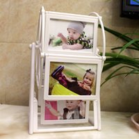 Wholesale Rack Wheels - 2017 Ferris wheel frame furnishings 5 inch creative home children photo frame big windmill album rack