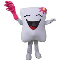 Wholesale Pink Sz L - Teeth and Pink Toothbrushes Mascot Costumes Cartoon Character Adult Sz 100% Real Picture