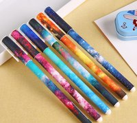 Wholesale 6 Set Color Gel Pen Starry Pattern Cute Kitty Hero Roller Ball Pens Stationery Office School Supplies G714