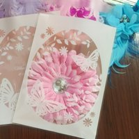 Wholesale Pastry Bags Packaging - Wholesale- 100pcs lot 12*16+3cm Pink Bottom White Butterfly Plastic Pastry and Gift Baking Bag Candy Cookie and Candy Packaging Bag B105