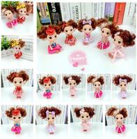 Wholesale Ddung Doll Fashion - Hot sellin Cute Mini Ddung ddgirl Dolls Keychain Pendant Fashion Popular 12CM Gum Dolls Girl Toys good Promotional gift for girl Plush Toys