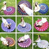 Wholesale Sarong Bikini Cover - Mandala Bikini Cover Ups Tapestry Beach Towel Bohemian Hippie Beachwear Chiffon Sarongs Shawl Bath Towels Yoga Picnic Mat CCA5622 10pcs
