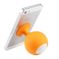 Wholesale tablets for sales resale online - Mini Waterproof Silicone Sucker Holder For ID PC MP3 with mm Jack tereo Subwoofer Loudspeakers For Universal Smartphone Tablet Hot Sale