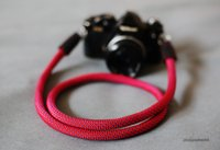 Wholesale Neck Strap Wallet - COOL RED Climbing rope 10.5mm handmade Camera neck strap