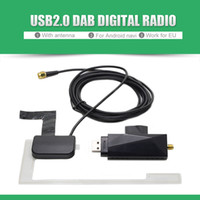 Wholesale Dab Antenna - DAB Car Radio Tuner Receiver USB stick DAB box for Universal Android Car DVD DAB+ antenna usb dongle for Android car dvd player