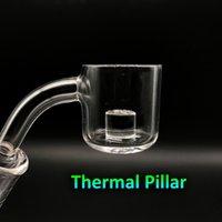 Wholesale Wholesale Glass Pillars - Free DHL Shipping!!! XL Quartz Thermal Banger With Thermal Pillar 10mm 14mm 18mm 45 90 Male Female Quartz Banger Nails For Glass Bongs