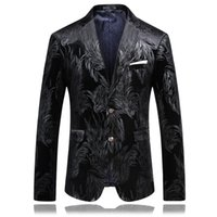 Wholesale Hosting Business - Wholesale- male Korean wedding groom Host clothing prom coats jacket business dress stage show nightclub magic Outdoors fashion Slim wear