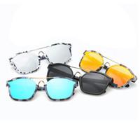 Wholesale stylish cool sunglasses for sale - Group buy Multicolour Men Women Unisex Stylish Reflective Vintage Sunglasses Cool Shades UV400 Protection Glasses Eyewear Hot