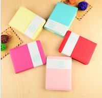 Wholesale Mini Pocket Book - Cute Colorful Mini Smile Leather Notebook 8*.10 CM 180 Sheets student pocket notepads Fashion Diary for Business office book
