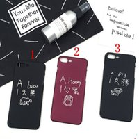 Wholesale Pig Iphone Cover - Kawaii Pig Lucky Cat Matte Full Cover for iPhone7 plus 6 s 6s plus 6plus Phone Cases