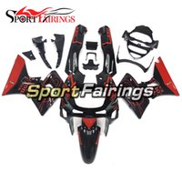 Wholesale Complete Motorcycle Fairing Kits - Injection Fairings For Kawasaki ZZR600 ZZR-400 1993 - 2007 ABS Plastic Complete Motorcycle Fairing Kits Cowling Black Red