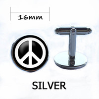 Wholesale high quality groom shirts - HIpster Peace Sign Symbol Brand Cuff Links Mens Wedding Groom Sleeve Button High Quality Vintage Silver Plated Shirt Cufflinks