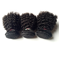Wholesale Curly Remy Hair Styles - Brazilian Virgin remy Human Hair Extensions popular sexy Short bob style 8-12inch beauty Indian Malaysian Kinky Curly remy hair Double Weft