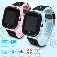 Wholesale Gps Touch Screen Watch - 2017 Touch Screen Q528 LBS Tracker WatchAnti-lost Children Kids Smart watch LBS Tracker Wrist Watchs SOS Call For Android IOS No GPS 2601137