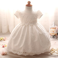 Wholesale Floral Dress Material - lace material comfortable design baby girl party dress children frocks designs cotton one piece party dress