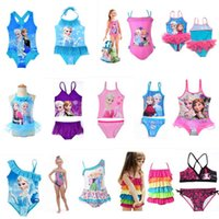 Wholesale Toddler Two Piece Bikini - Baby Kids Clothing 2017 summer princess Swim Two-Pieces Swimsuit Bikini Girls swimwear swiming suits One-Pieces toddler clothes wholesale