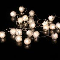 luzes internas a pilhas venda por atacado-Novo tipo de 10 M 100 Snowball luzes de tira de natal ao ar livre decoração de iluminação de fadas interior USB seco bateria operado