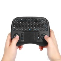 Wholesale Raspberry Pi Tv - Mini Keyboards KP-810-21T 2.4GHz Wireless Handheld Qwerty Keyboard Touchpad Mouse iPazzPort Portable for Smart TV Box Raspberry Pi HTPC B