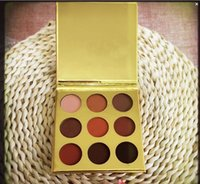Wholesale Gold Glitter Powder - Free Shipping ePacket! HOT Makeup gold Kylie Jenner KyShadow 9 color Bronze powder eyeshadow palette