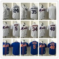 jerseys mets al por mayor-2018 Top Kid Mets 5 Wright 34 Syndergaaro 48 DeGROM Detroit Tigers 24 Cabrera 35 Verlander Blank Excellence Patch Jerseys de béisbol