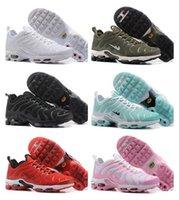 Wholesale Plus Sales Rubbers - 2017 Newert Womens Running Shoes TN Shoes for sale Women PLUS TXT TN Black Air cushion shoes Lace Sneakers Eur 5.5-8.5